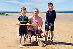 Enjoying a bit of hurling on the beach in Ballybunion on Sunday, l to r: Killian, Cyril and Kierán Maher.