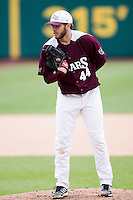 Andy Cheray #44 of the Missouri State Bears stands on the mound during a game against the Wichita State Shockers at Hammons Field on May 5, 2013 in Springfield, Missouri. (David Welker/Four Seam Images)