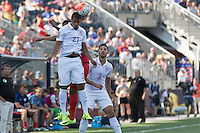 Philadelphia, PA. - Saturday, July 25, 2015: Panama goes on to defeat the USMNT 2-1 after winning on a PK shootout to take the third place trophy in the 2015 Gold Cup at PPL Park.