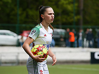 Jill Janssens (7) of OHL on the sideline with the ball during a female soccer game between Oud Heverlee Leuven and AA Gent Ladies on the 9 th matchday of play off 1 in the 2020 - 2021 season of Belgian Womens Super League , saturday 22 nd of May 2021  in Heverlee , Belgium . PHOTO SPORTPIX.BE   SPP   SEVIL OKTEM