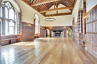 BNPS.co.uk (01202 558833)<br /> Pic: Savills/BNPS<br /> <br /> Pictured: The hall inside the castle.<br /> <br /> A stunning historic castle with views across the Channel to France is on the market for £11m.<br /> <br /> Grade I Listed Lympne Castle dates back to the 13th century and hosted everyone from archbishops and prime ministers to celebrities including Mick Jagger and Sir Paul McCartney.<br /> <br /> The striking property in Hythe, Kent, has such incredible views it was used during the Second World War to spot V1 rockets in Calais on a clear day, allowing coastline guns to be ready to shoot down the rockets over Hythe Bay.<br /> <br /> The grand home, which has been run as a wedding and events venue for the past 20 years, is on the market with Savills.