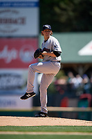 Scranton/Wilkes-Barre RailRiders pitcher Brody Koerner (90) during an International League game against the Rochester Red Wings on June 25, 2019 at Frontier Field in Rochester, New York.  Rochester defeated Scranton 10-9.  (Mike Janes/Four Seam Images)