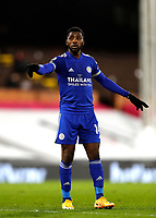 3rd February 2021; Craven Cottage, London, England; English Premier League Football, Fulham versus Leicester City; Kelechi Iheanacho of Leicester City
