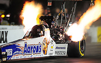 Sept. 16, 2011; Concord, NC, USA: NHRA top fuel dragster driver Antron Brown during qualifying for the O'Reilly Auto Parts Nationals at zMax Dragway. Mandatory Credit: Mark J. Rebilas-US PRESSWIRE