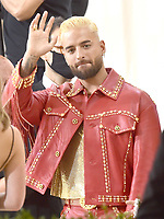 """NEW YORK, NEW YORK - SEPTEMBER 13: Maluma at the 2021 Met Gala benefit """"In America: A Lexicon of Fashion"""" at Metropolitan Museum of Art on September 13, 2021 in New York City. Credit: John Palmer/MediaPunch"""