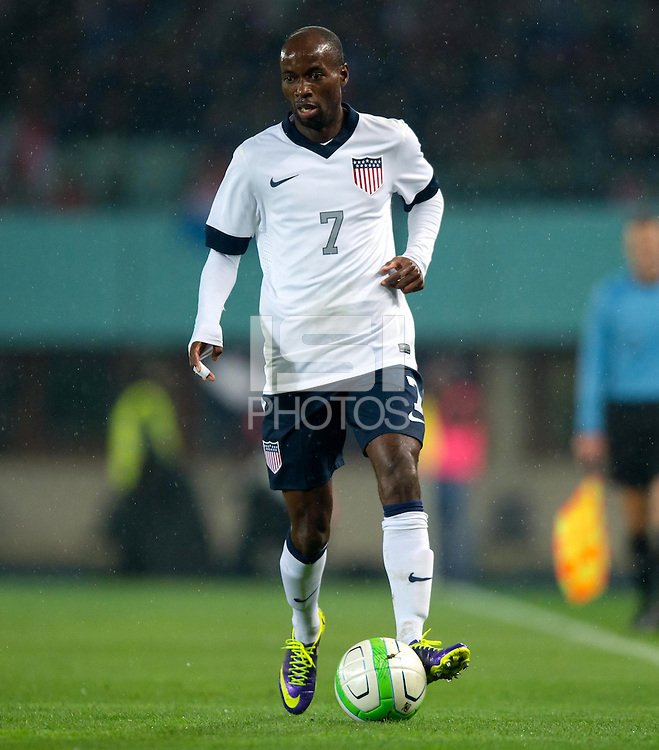 VIENNA, Austria - November 19, 2013: DaMarcus Beasley during a 0-1 loss to host Austria during the international friendly match between Austria and the USA at Ernst-Happel-Stadium.