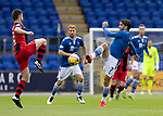 St Johnstone v St Mirren……29.08.20   McDiarmid Park  SPFL<br />Craig Conway and Nathan Sheron<br />Picture by Graeme Hart.<br />Copyright Perthshire Picture Agency<br />Tel: 01738 623350  Mobile: 07990 594431