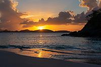 Sunset at Trunk Bay<br /> St. John<br /> US Virgin Islands
