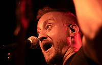 Jim Goza performs with his band The Juice, Saturday, July 17, 2021 at George's Majestic Lounge in Fayetteville. Check out nwaonline.com/210718Daily/ for today's photo gallery. <br /> (NWA Democrat-Gazette/Charlie Kaijo)