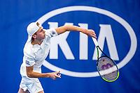 Amstelveen, Netherlands, 14  December, 2020, National Tennis Center, NTC, NK Indoor, National  Indoor Tennis Championships, Qualifying:    Dax Donders (NED)<br /> Photo: Henk Koster/tennisimages.com