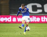 20th March 2021; Liberty Stadium, Swansea, Glamorgan, Wales; English Football League Championship Football, Swansea City versus Cardiff City; Tom Sang of Cardiff City plays the ball forward