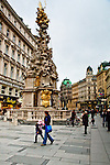 This wild Baroque column on Graben Strasse celebrated the end of the 1679 plague.