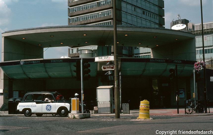 London:  Jubilee Line, Southwark Station.  MacCormac Jamieson & Prichard, 2000.  Photo 2005.