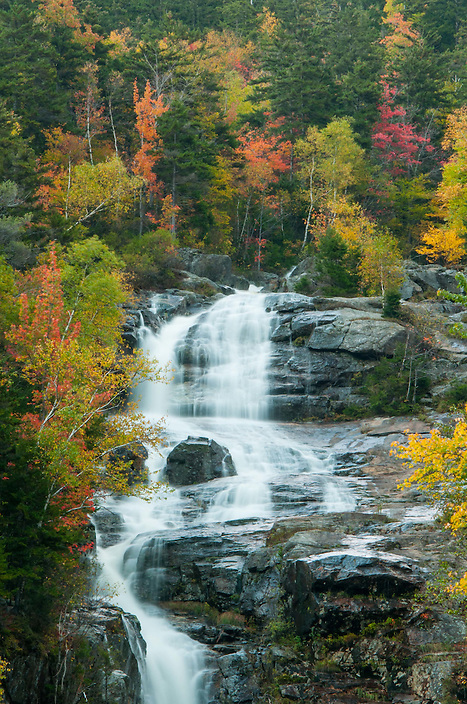 The upper drops of Silver Cascade, surrounded by fall color.