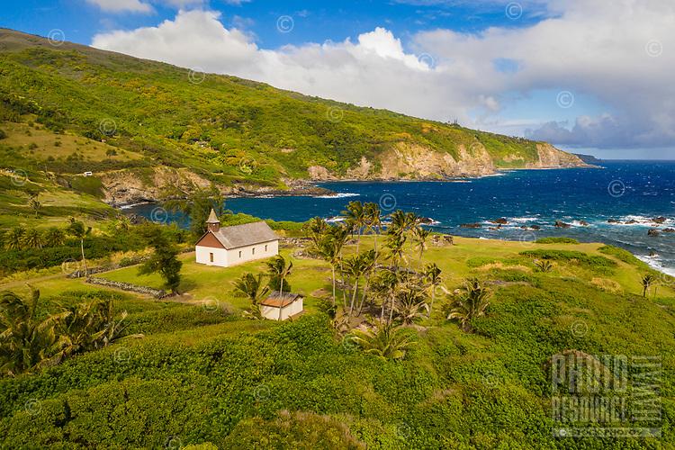 Old Huialoha Church, on the sea, Kaupo, Maui.