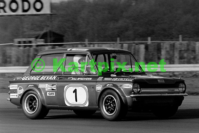 Bill McGovern, 1972 BRDC International Trophy support race at Silverstone.