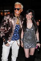 "LOS ANGELES, CA - JUNE 14: Polish popstar Kuba Ka and Vikki Lizzi attend Kuba Ka's performance for his single ""Stop Feenin'"" at Hyde Nightclub on June 14, 2013 in Los Angeles, California. (Photo by Celebrity Monitor)"