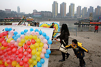 CHINA. Sichuan Province. Chongqing. The Yangtze River which is at its lowest level in 150 years as a result of a country-wide drought. Chongqing is a city of over 3,000,000 people, famed for being the capital of China between 1938 and 1946 during World War II. It is situated on the banks of the Yangtze river, China's longest river and the third longest in the world. Originating in Tibet, the river flows for 3,964 miles (6,380km) through central China into the East China Sea at Shanghai.  2008
