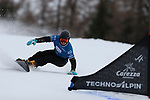 Parallel Slalom event of the FIS Snowboard World Cup on 19/12/2019 in Carezza, Italy.<br />  Vic Wild (RUS)
