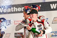 #9 PFAFF Motorsports Porsche 911 GT3 R, GTD: Scott Hargrove, Zacharie Robichon, Lars Kern, Champagne