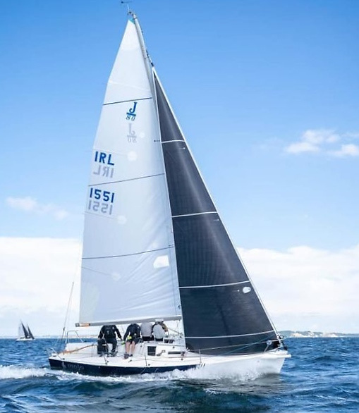 Pat O'Neill's J/80 Mojo (HYC) revelling in good sailing conditions in the Baltic for the J/80 Worlds