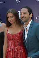 Lara Lieto and Adrien Brody attend the 'Jacob & Co, Magnificent Timepiece & Jewelry Exhibition' at Hotel Hermitage on August 5, 2016 in Monaco