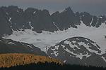 Peaks on Resurrection Peninsula near Seward