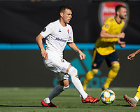 CHARLOTTE, NC - JULY 20: Szymon Zurkovski #8 during a game between ACF Fiorentina and Arsenal at Bank of America Stadium on July 20, 2019 in Charlotte, North Carolina.