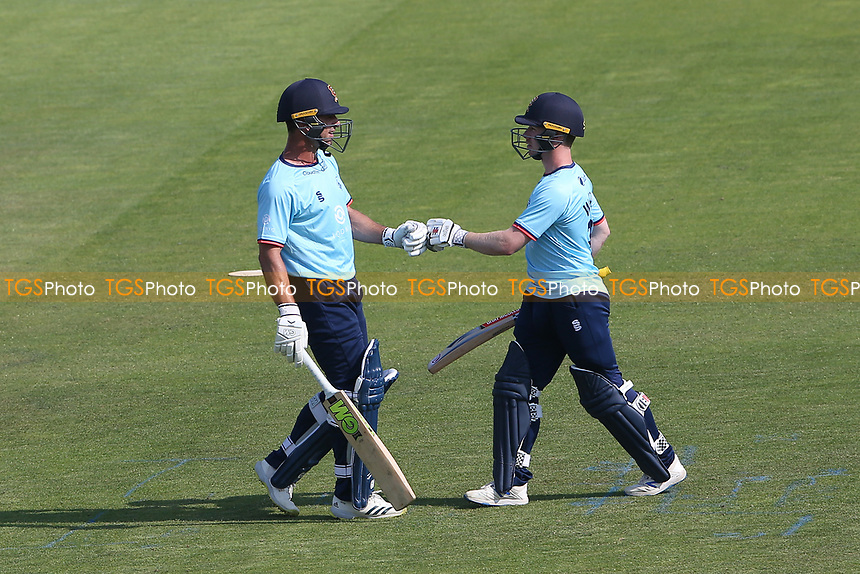 Ryan ten Doeschate and Adam Wheater of Essex in batting action during Hampshire Hawks vs Essex Eagles, Royal London One-Day Cup Cricket at The Ageas Bowl on 22nd July 2021