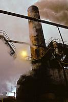 sugar mill at dusk, Paia
