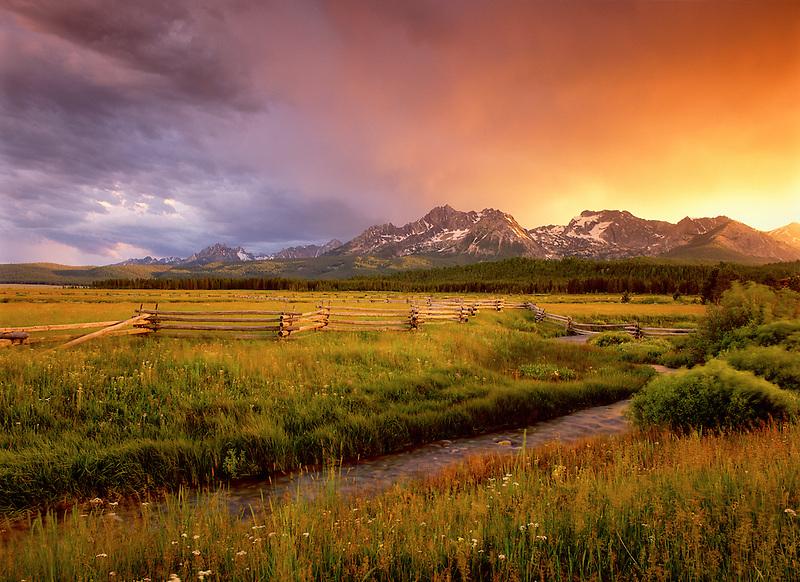 Sawtooth Mountains. Sawtooth National Recreation Area, Idaho.