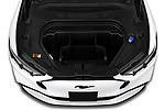 Car Stock 2021 Ford Mustang-Mach-E Premium 5 Door SUV Engine  high angle detail view