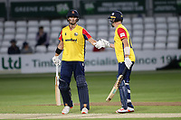 Jack Plom (L) and Sam Cook of Essex during Essex Eagles vs Hampshire Hawks, Vitality Blast T20 Cricket at The Cloudfm County Ground on 11th June 2021