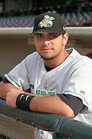 Clinton Lumberkings Alberto Martinez poses for a photo before a Midwest League game at Fifth Third Field on July 18, 2006 in Dayton, Ohio.  (Mike Janes/Four Seam Images)