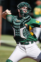February 21, 2010:  Catcher Kyle Baldani (27) of the Siena Saints during a game at Melching Field at Conrad Park in DeLand, FL.  Siena lost to Stetson by the score of 8-7.  Photo By Mike Janes/Four Seam Images