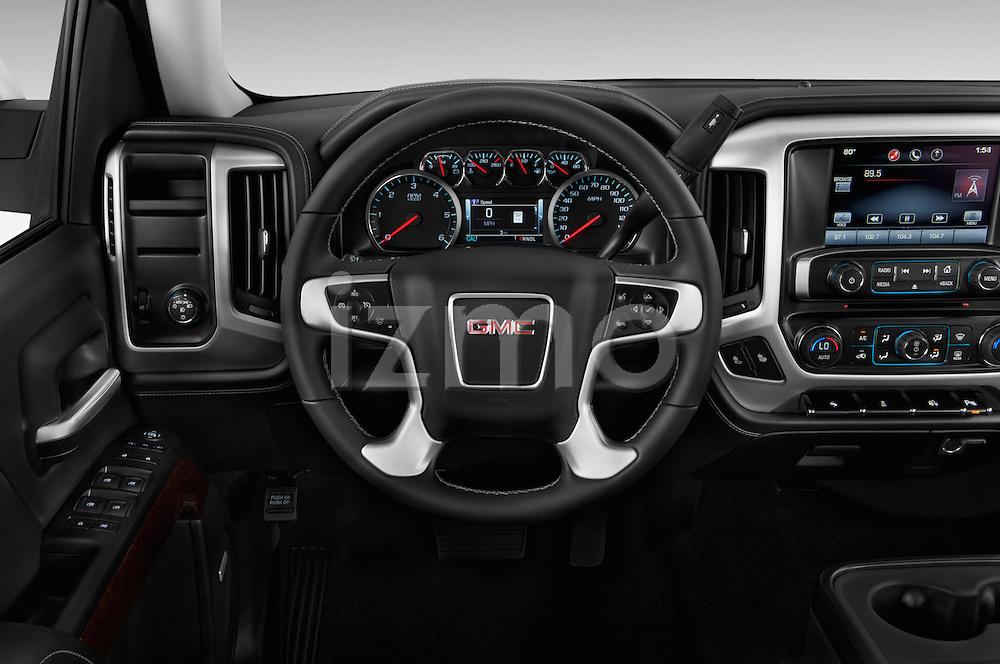 Car pictures of steering wheel view of a 2017 GMC Sierra-1500 Crew-Cab-Short-Box-SLT 4 Door Pickup Steering Wheel