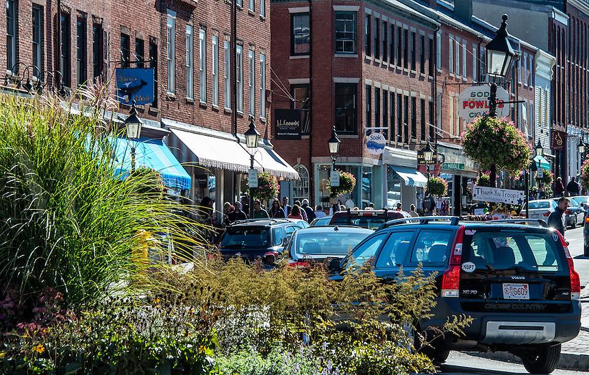 Quaint shops, Newburyport, Massachusetts, USA