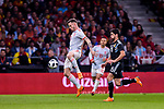 Saul Niguez of Spain (L) plays against Enzo Perez of Argentina (R) during the International Friendly 2018 match between Spain and Argentina at Wanda Metropolitano Stadium on 27 March 2018 in Madrid, Spain. Photo by Diego Souto / Power Sport Images