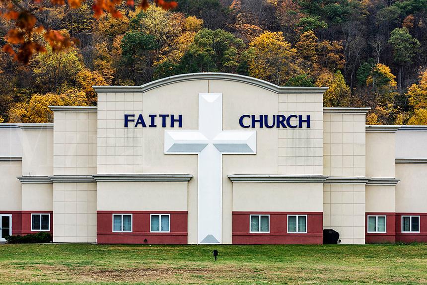 Large Evangelical church exterior.