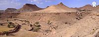 Tunisia, Chenini,. Mountain village, PANORAMIC (TRAVEL TUNISIAsb10069713an-001 )