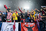 Fans of Atletico de Madrid show their supports to the team after the 2016-17 UEFA Champions League Semifinals 2nd leg match between Atletico de Madrid and Real Madrid at the Estadio Vicente Calderon on 10 May 2017 in Madrid, Spain. Photo by Diego Gonzalez Souto / Power Sport Images