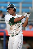 Jamestown Jammers Guillermo Martinez during a NY-Penn League game at Russell Diethrick Park on July 19, 2006 in Jamestown, New York.  (Mike Janes/Four Seam Images)