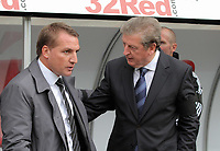 Pictured L-R: managers Brendan Rodgers of Swansea and Roy Hodgson of West Bromwich Albion. Saturday 17 September 2011<br /> Re: Premiership football Swansea City FC v West Bromwich Albion at the Liberty Stadium, south Wales.