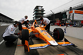Verizon IndyCar Series<br /> Fernando Alonso Test for Indianapolis 500<br /> Indianapolis Motor Speedway, Indianapolis, IN USA<br /> Wednesday 3 May 2017<br /> Fernando Alonso turns his first career laps on an oval in preparation for his Indianapolis 500 debut.<br /> World Copyright: Michael L. Levitt<br /> LAT Images
