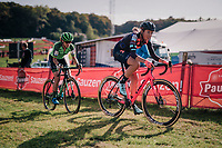 Sophie De Boer (NED/Breepark) & eventual race winner Marianne Vos (NED/Waow Deals)<br /> <br /> Elite Women's Race<br /> GP Mario De Clercq / Hotond cross 2018 (Ronse, BEL)