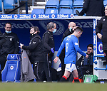 21.02.2021 Rangers v Dundee Utd: Ryan Jack walks off half way through the opening half