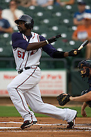 Abercrombie, Reggie 3051.jpg.  PCL baseball featuring the New Orleans Zephyrs at Round Rock Express  at Dell Diamond on June 19th 2009 in Round Rock, Texas. Photo by Andrew Woolley.