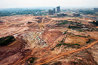 Land cleared ready for new residential complexes to be built in the city of Nanning. /Felix Features