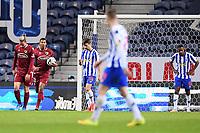 30th April 2021; Dragao Stadium, Porto, Portugal; Portuguese Championship 2020/2021, FC Porto versus Famalicao; Anderson Silva of Famalicao celebrates his goal in the 91st minute 3-2