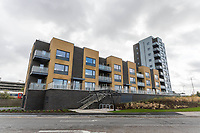 BNPS.co.uk (01202 558833)<br /> Pic: Graham Hunt/BNPS<br /> <br /> Flats at Nile Court overlooking Holes Bay at Poole in Dorset.<br /> <br /> View of the flats which have balcony views of Holes Bay.<br /> <br /> Are these Britain's most sought-after council flats ...<br /> <br /> A brand new block of council flats have been unveiled that come with stunning sea views homeowners pay a premium for.<br /> <br /> Nile Court is a development of one and two bedroom apartments overlooking Poole Harbour in Dorset, one of the most exclusive locations for property in the country.<br /> <br /> The flats have private balconies from which breathtaking sunset views over water can be enjoyed.<br /> <br /> Thirty out of the 46 flats in the nine storey building are only available to tenants registered for council accommodation, with monthly rents of around £270.